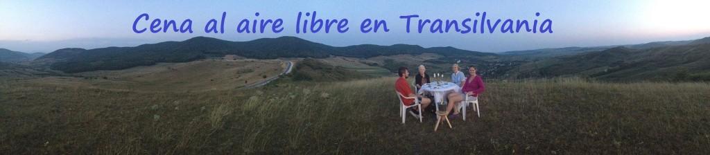Cena al aire libre en Transilvania