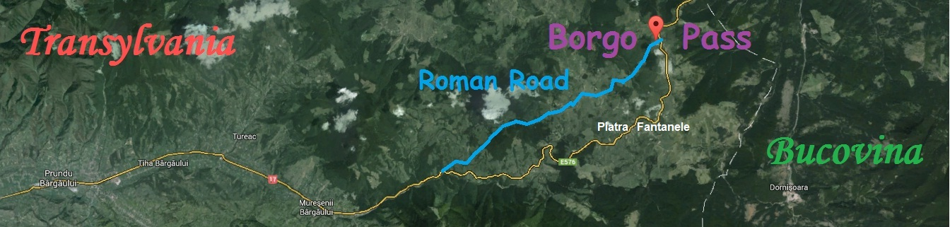 Roman Road from Borgo Pass