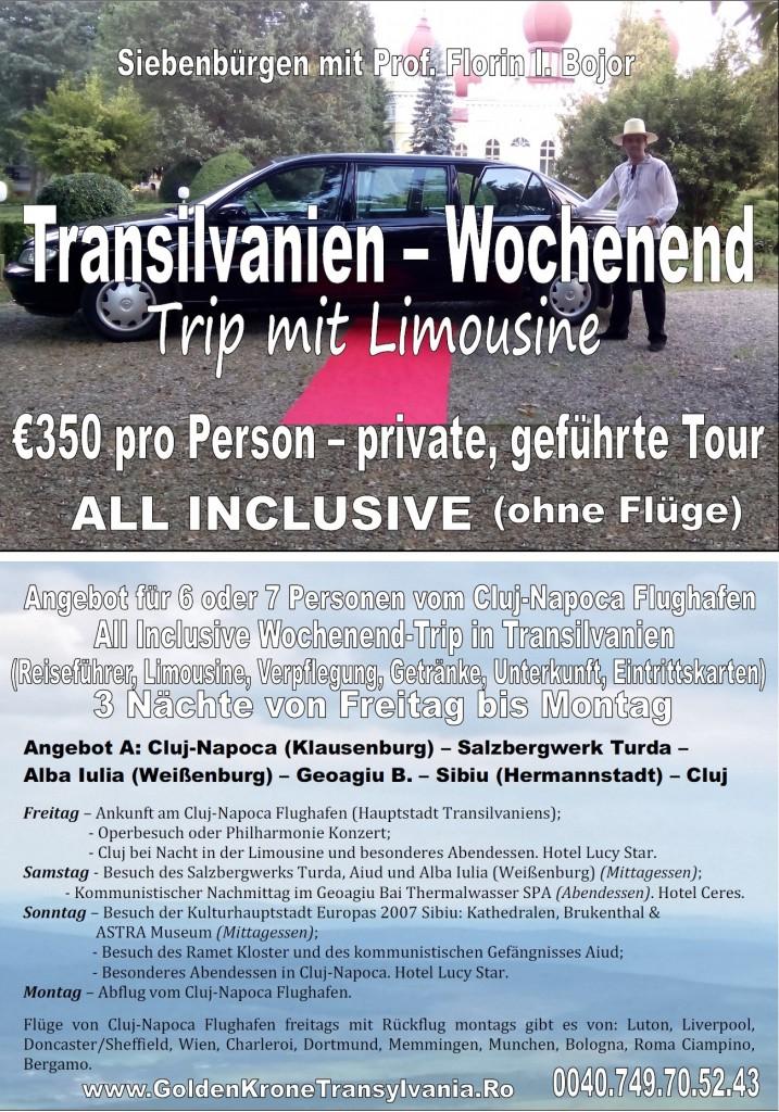 Transilvanien – Wochenend-Trip mit Limousine