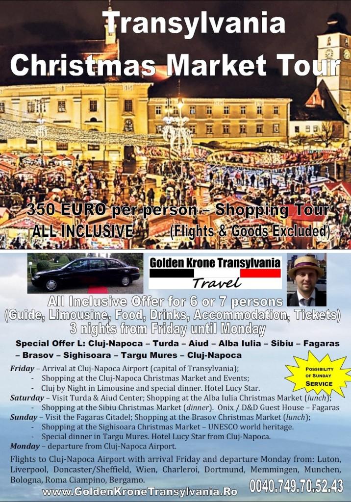 transylvania christmas market tour 2016