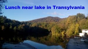Lunch near lake in Transylvania